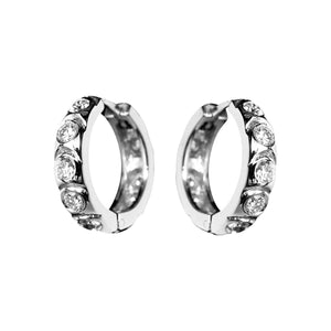 DIAMOND HUGGIES EARRINGS - Chris Aire Fine Jewelry & Timepieces