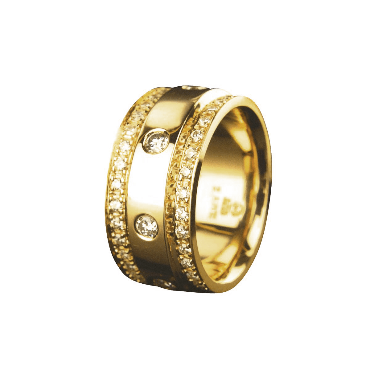 Paparazzi - Diamond & Yellow Gold Wedding Band