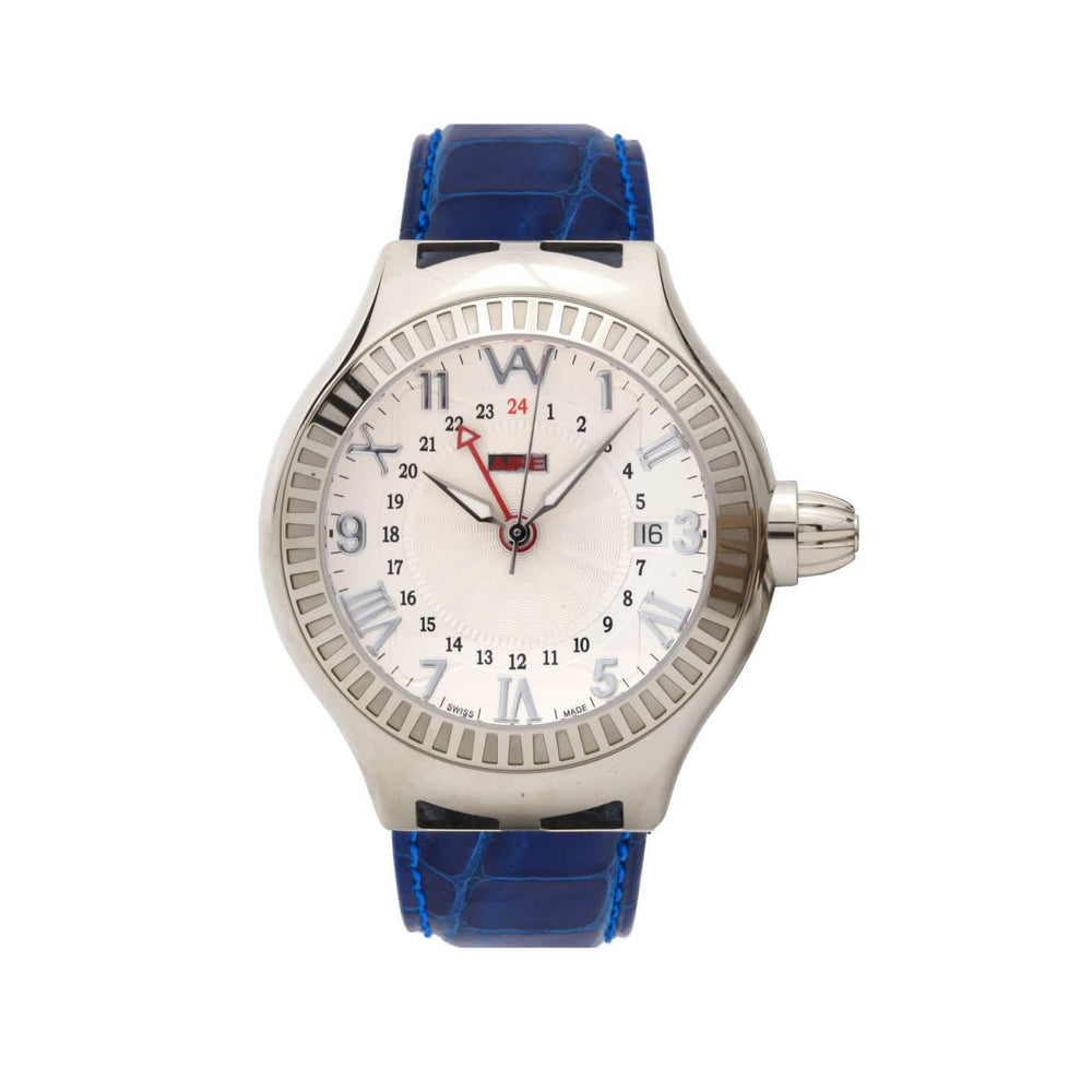 Aire Parlay GMT Swiss Made Automatic GMT Solid White Gold Unisex Watch
