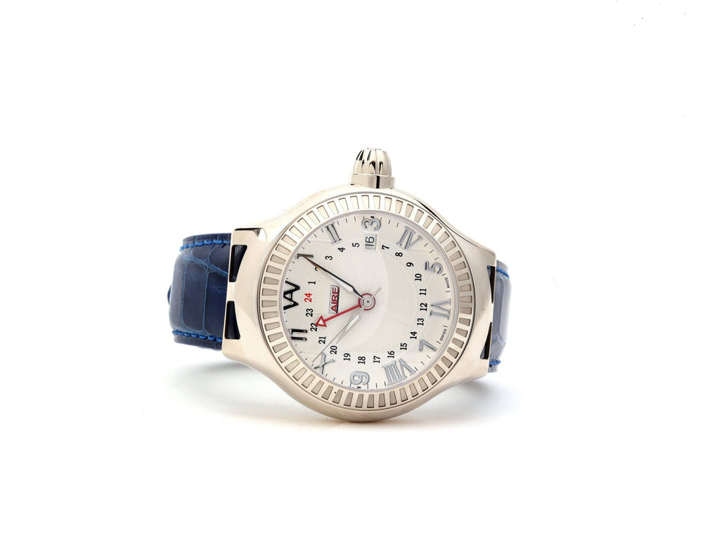 WHITE GOLD WATCH - PARLAY 42 MM GMT Limited Edition - Chris Aire Fine Jewelry & Timepieces