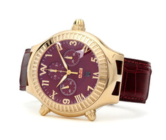 GOLD WATCH - PARLAY 50 MM AMBIDEXTROUS CHRONOMATIC - Chris Aire Fine Jewelry & Timepieces