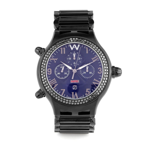 BLACK WATCH - PARLAY 50 MM BLACK DIAMOND CHRONOMATIC