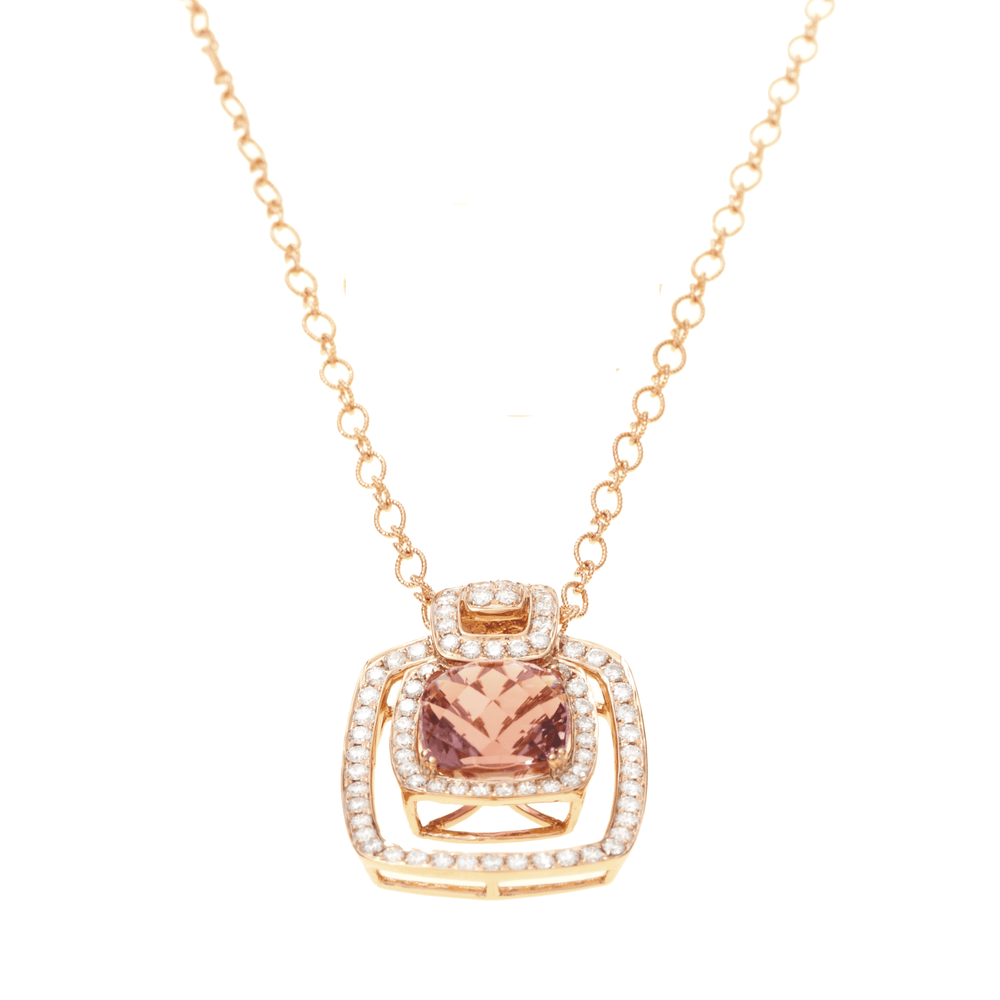 PINK TOURMANLINE  NECKLACE - Chris Aire Fine Jewelry & Timepieces