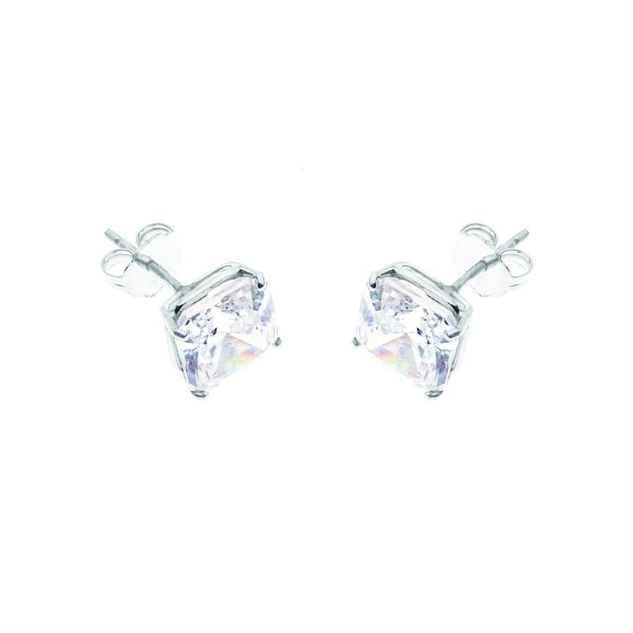 AIRE PRINCESS CUT DIAMOND STUDS - Chris Aire Fine Jewelry & Timepieces