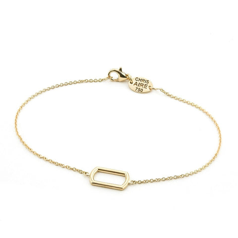 GOLD DOG TAG FRAME BRACELET