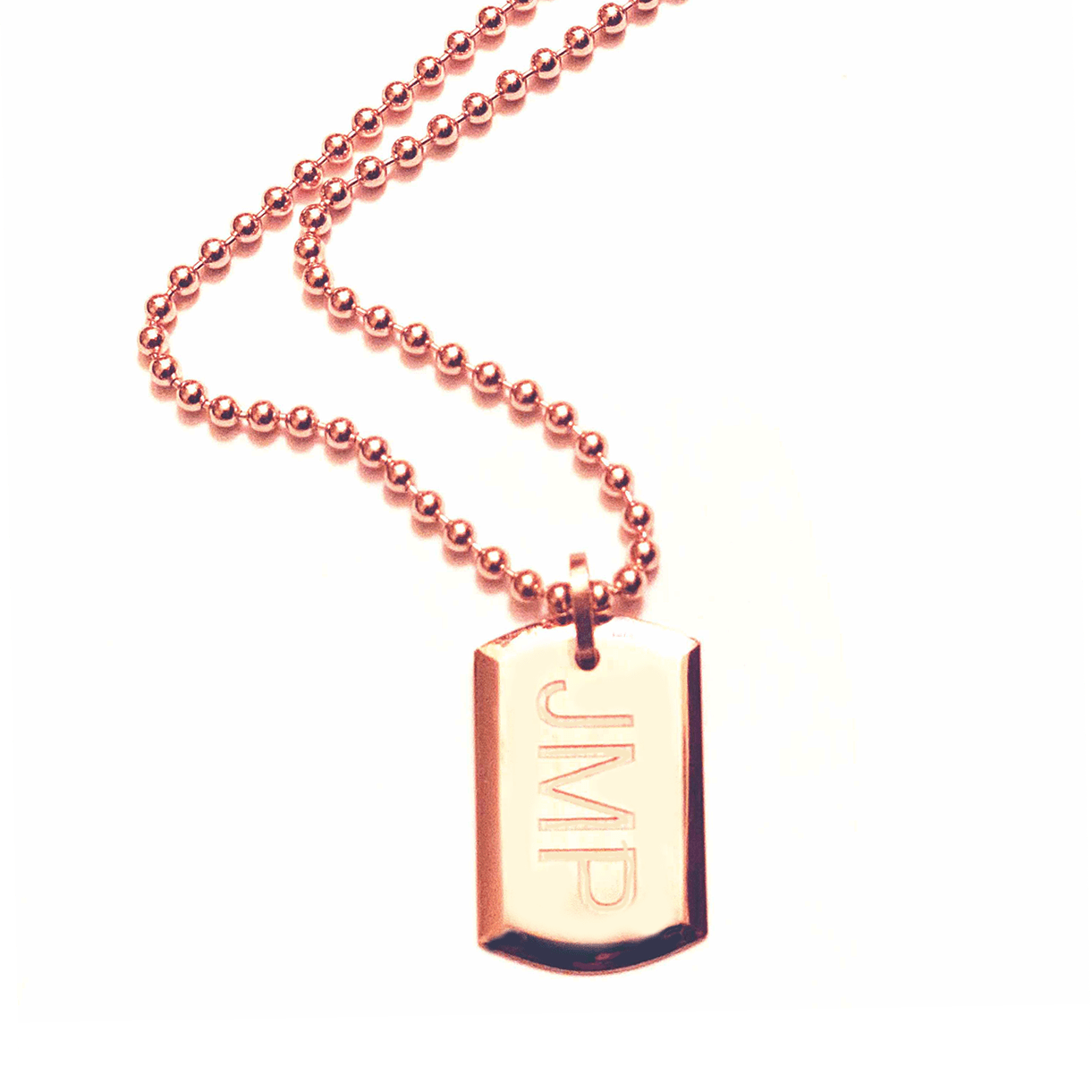 18 Karat Amber Hue Gold Dog Tag (Customizable)