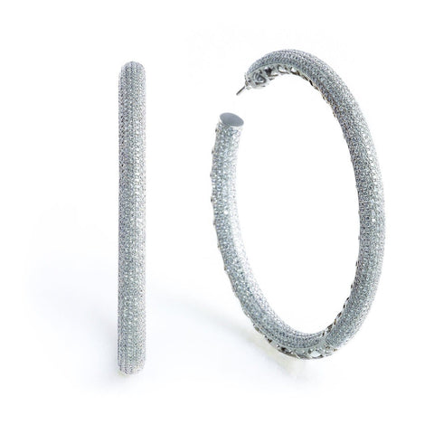 EXTRA LARGE DIAMOND HOOP EARRINGS - STARLET