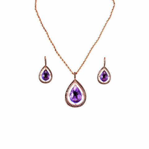 AMETHYST JEWELRY SET - FAVORED