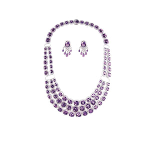 AMETHYST GEMSTONE NECKLACE SET- GRACE TO GLORY - Chris Aire Fine Jewelry & Timepieces