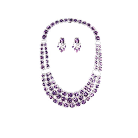 AMETHYST GEMSTONE NECKLACE SET- GRACE TO GLORY