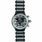 Aire Parlay Swiss Made Over- Sized Chronograph  Full Black & White Diamond Watch