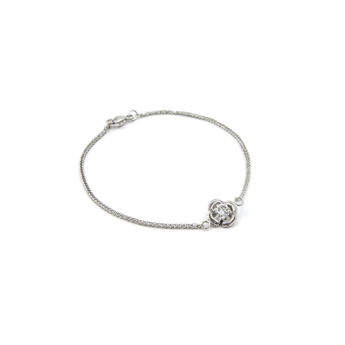 WHITE GOLD FLOWERETTE BRACELET - Chris Aire Fine Jewelry & Timepieces