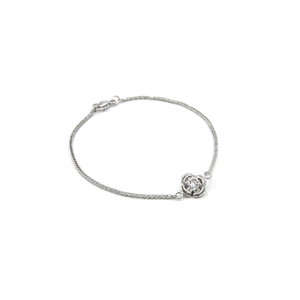 Load image into Gallery viewer, WHITE GOLD FLOWERETTE BRACELET - Chris Aire Fine Jewelry & Timepieces