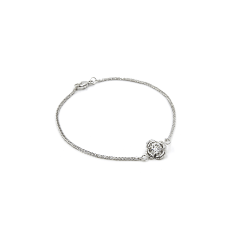 WHITE GOLD FLOWERETTE BRACELET