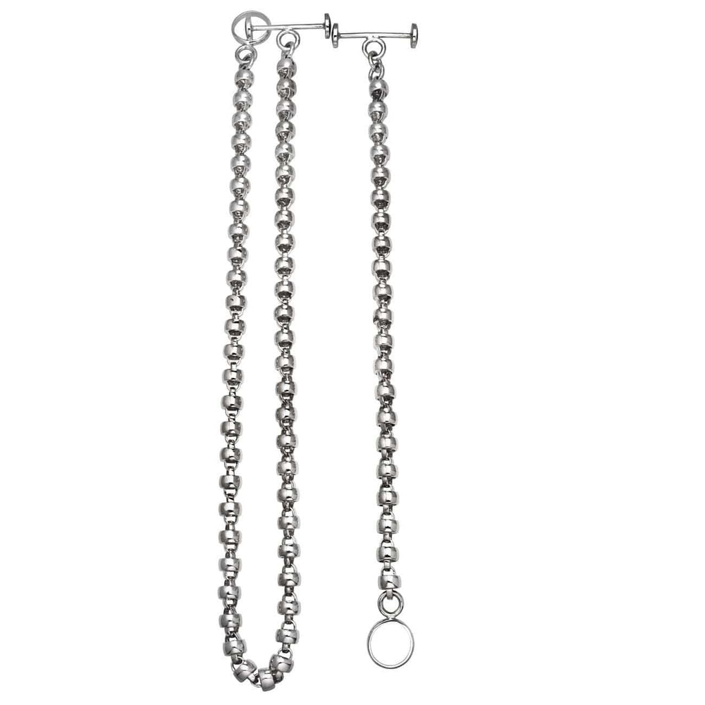 African Bead Chain - 18 Karat White Gold Necklace & Bracelet Set