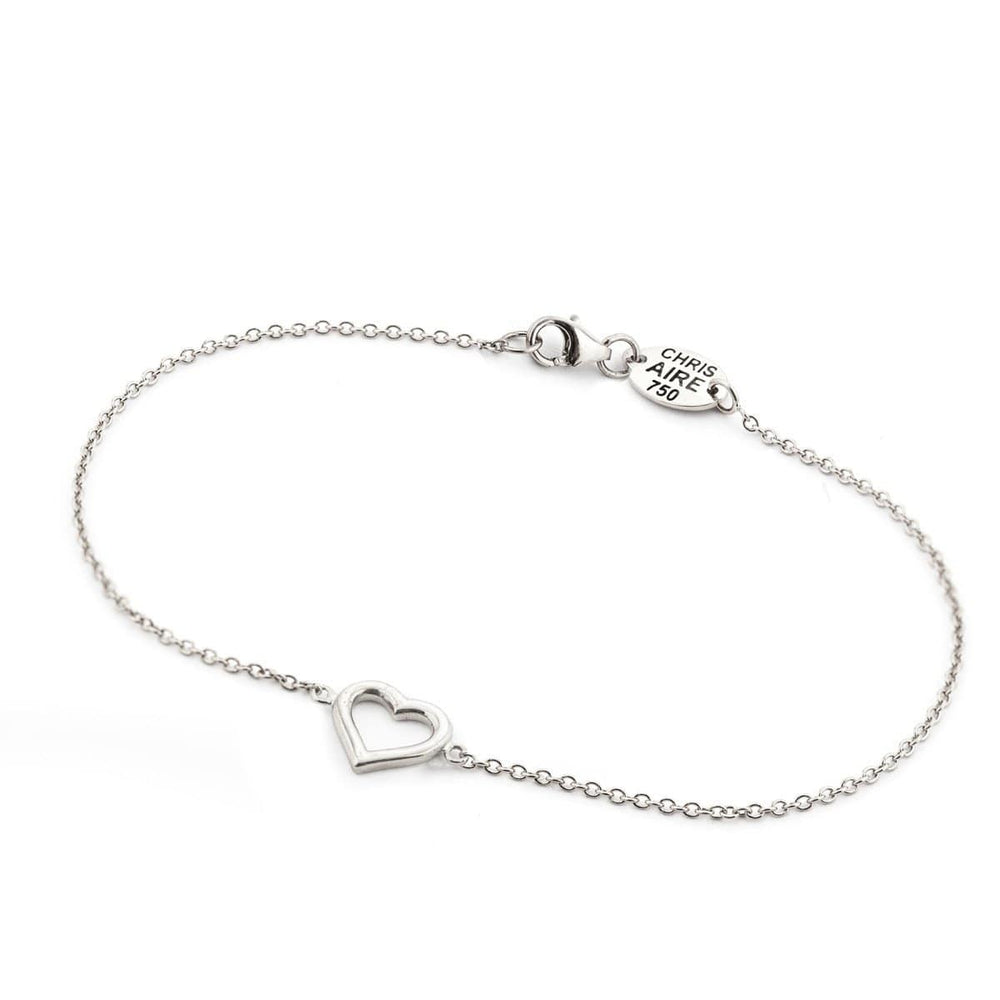 WHITE GOLD HEART BRACELET - Chris Aire Fine Jewelry & Timepieces