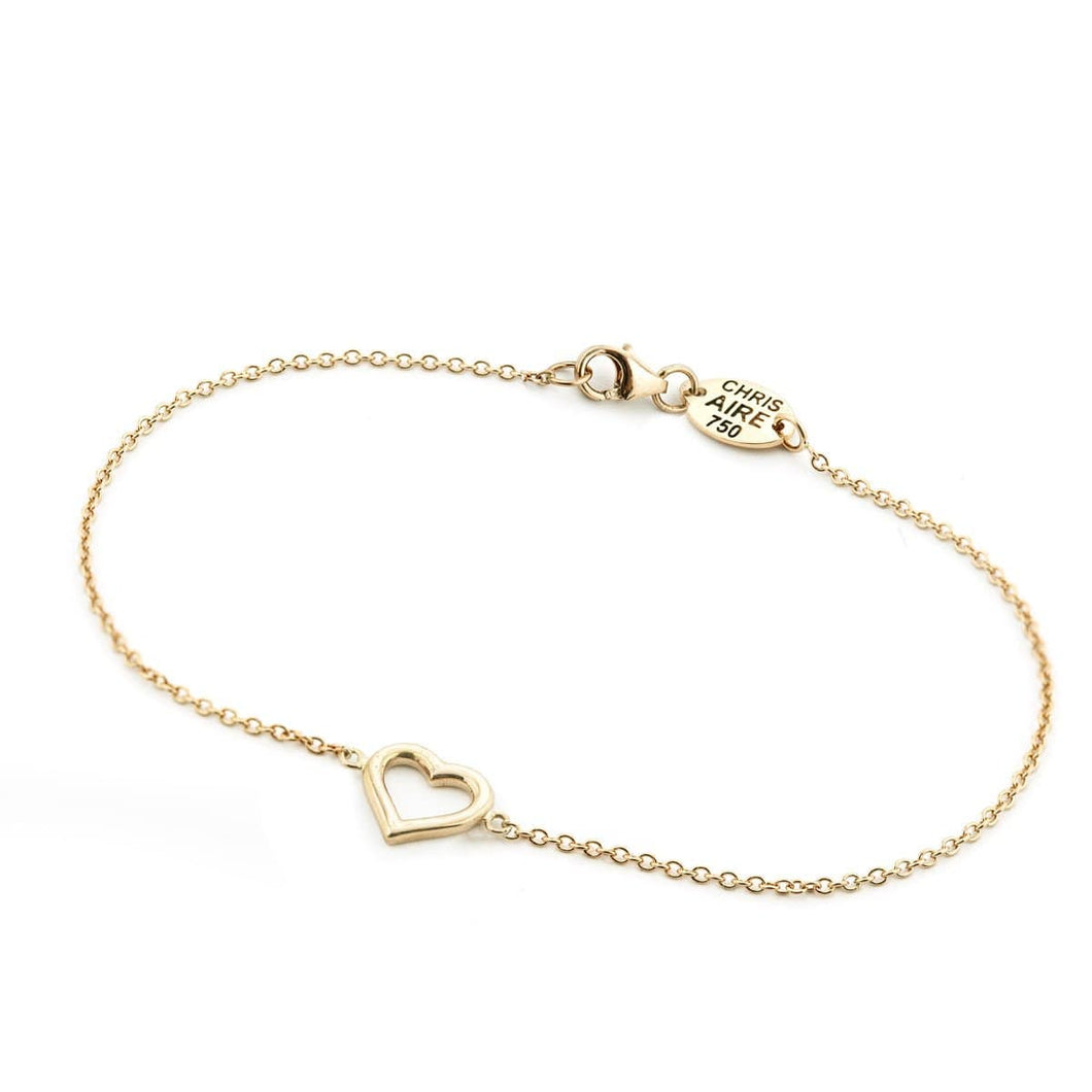 YELLOW GOLD HEART BRACELET - Chris Aire Fine Jewelry & Timepieces