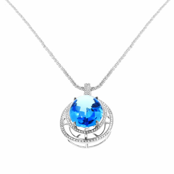 BLUE TOPAZ NECKLACE - SCINTILLATING LAGOON
