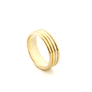 CHRIS AIRE WEDDING BAND - TRI-COLOR GOLD - Chris Aire Fine Jewelry & Timepieces