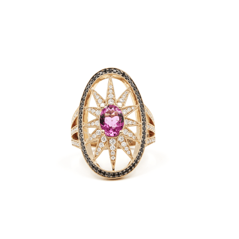 COCKTAIL GEMSTONE RING - SPRAWLING TENTACLES