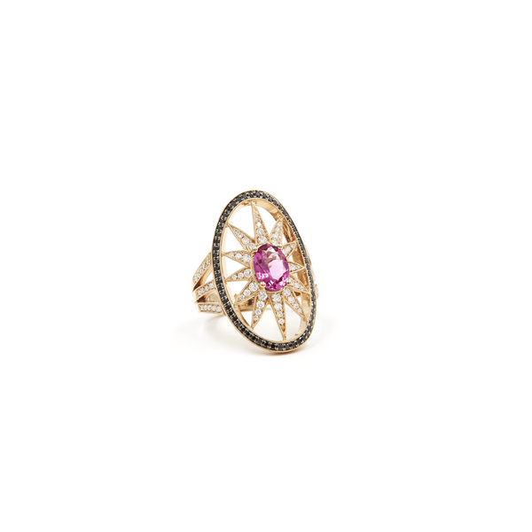COCKTAIL GEMSTONE RING - SPRAWLING TENTACLES - Chris Aire Fine Jewelry & Timepieces