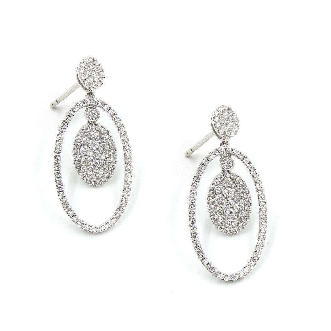 QUEEN DIANA-DIAMOND EARRINGS - Chris Aire Fine Jewelry & Timepieces