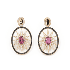 "DIAMOND AND GEMSTONE EARRINGS ""SPRAWLING TENTACLES"" - Chris Aire Fine Jewelry & Timepieces"