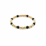 GOLD AND BEAD BRACELET