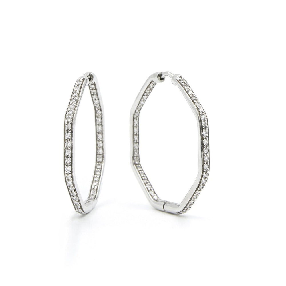 CHRIS AIRE SMALL  HOOP DIAMOND EARRINGS - Chris Aire Fine Jewelry & Timepieces