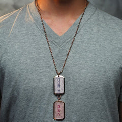 GOLD AND  DIAMOND DOG TAGS