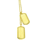 18 Karat Yellow Gold Dog Tags