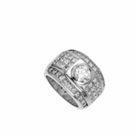Chris Aire Men's Princess Cut Diamond Ring