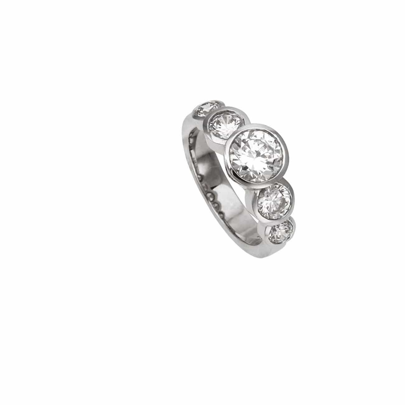 CHRIS AIRE QUINTUPLE  ENGAGEMENT RING - Chris Aire Fine Jewelry & Timepieces