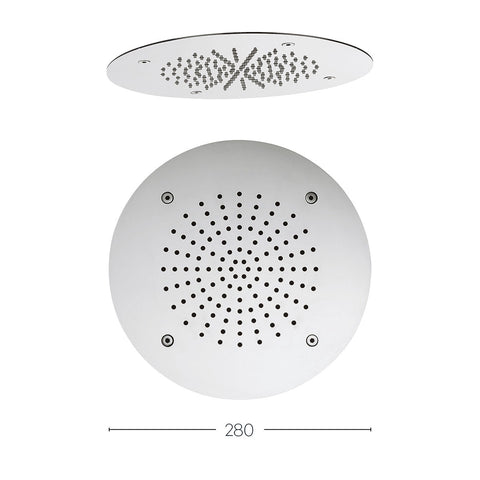 Crosswater Round recessed 280mm showerhead