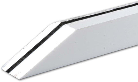 "Binding, White/Black/White, 1/4"" Tall x .100 Thick x 48"" Long"