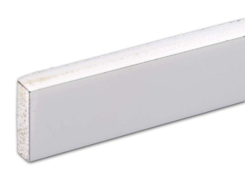 "Binding, White, 1/4"" Tall x .080 Thick x 48"" Long"