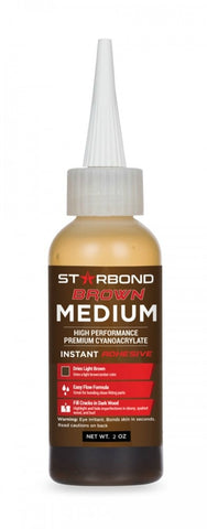 Glue, Starbond BR-150 Brown Medium CA, 2oz.