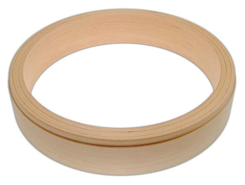 Wood Rim, 3-ply Maple fitted for Tone Ring, Straight Sides