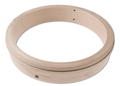 Wood Rim, 3-ply Maple fitted for One-Piece Flange and Tone Ring
