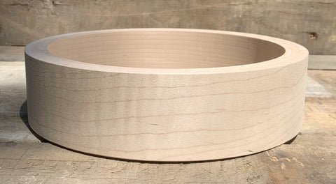 Wood Rim, 3-ply Fitted for Tone Ring, Straight Sides   *Use Drop-Down Menu for Wood Choices