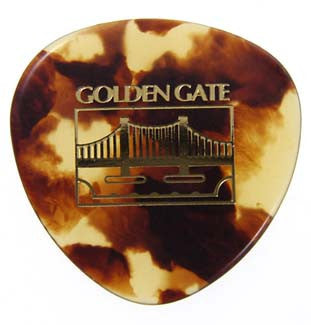 Golden Gate Flat Pick, Heavy Tortoise, pkg of 6