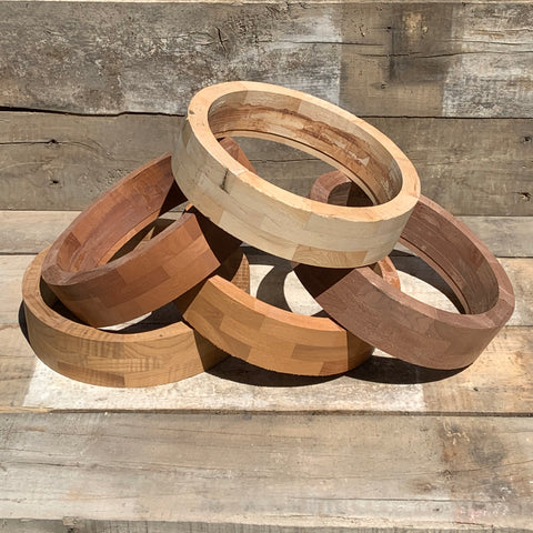 Wood Rim, Block, Fitted for One-Piece Flange & Tone Ring   *Use Drop-Down Menu for Wood Choices