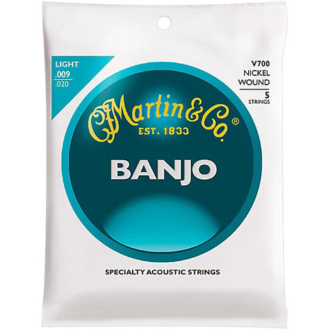 Vega V700 Banjo Strings, 5-String, Light, Nickel, 9-20