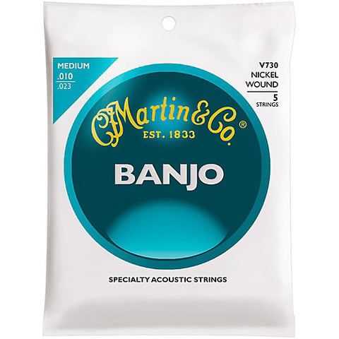 Vega V730 Banjo Strings, 5-String, Medium, Nickel, 10-23