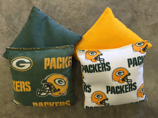 Green Bay Packers Cornhole Bag Set - Wrapyourboards.com