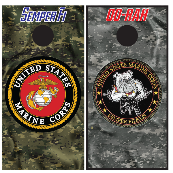 United States Marine Corps-Marines Logo - Cornhole Boards - Wrapyourboards.com