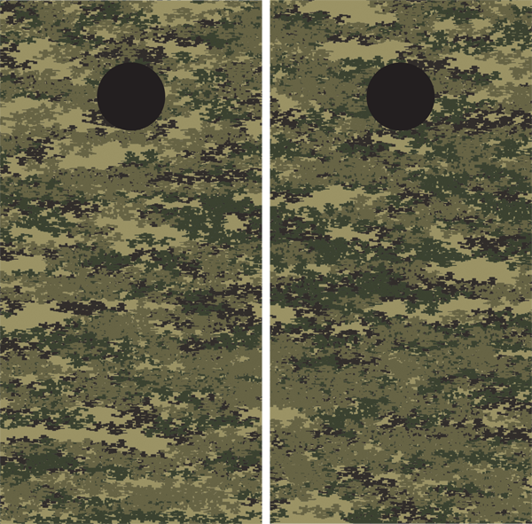 Digital Camouflage Cornhole Board Wraps - US Army - Wrapyourboards.com