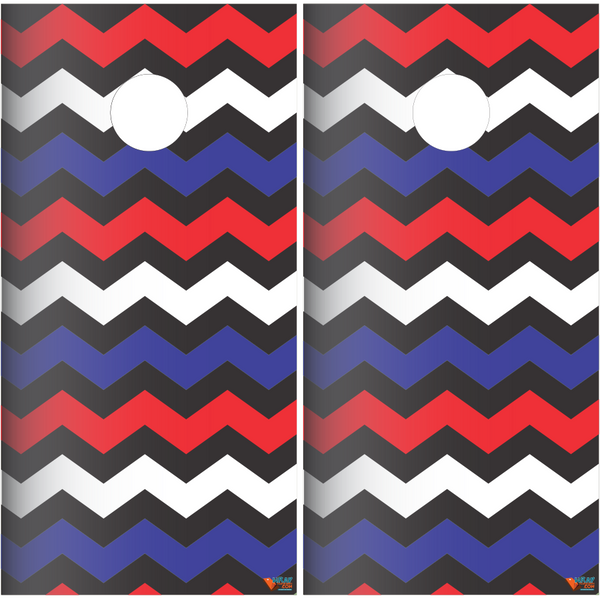 Chevron Pattern Cornhole Board Wrap Set - Wrapyourboards.com