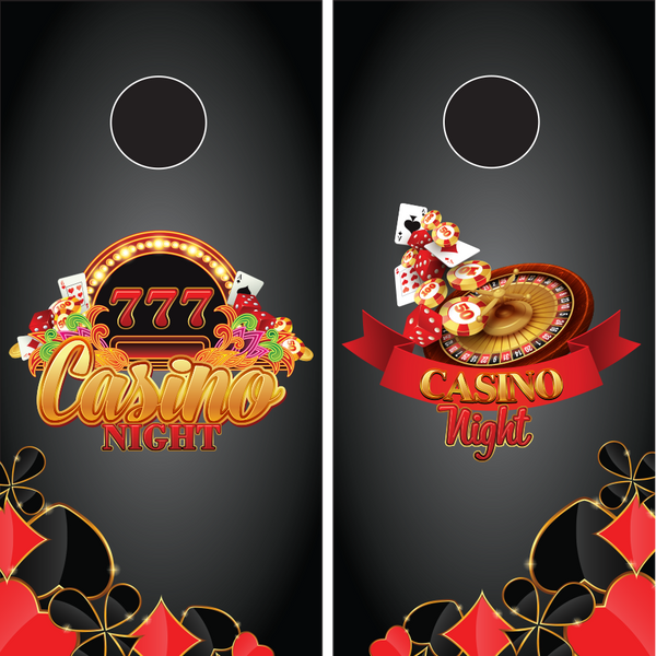 Casino Cornhole Boards wraps - Wrapyourboards.com