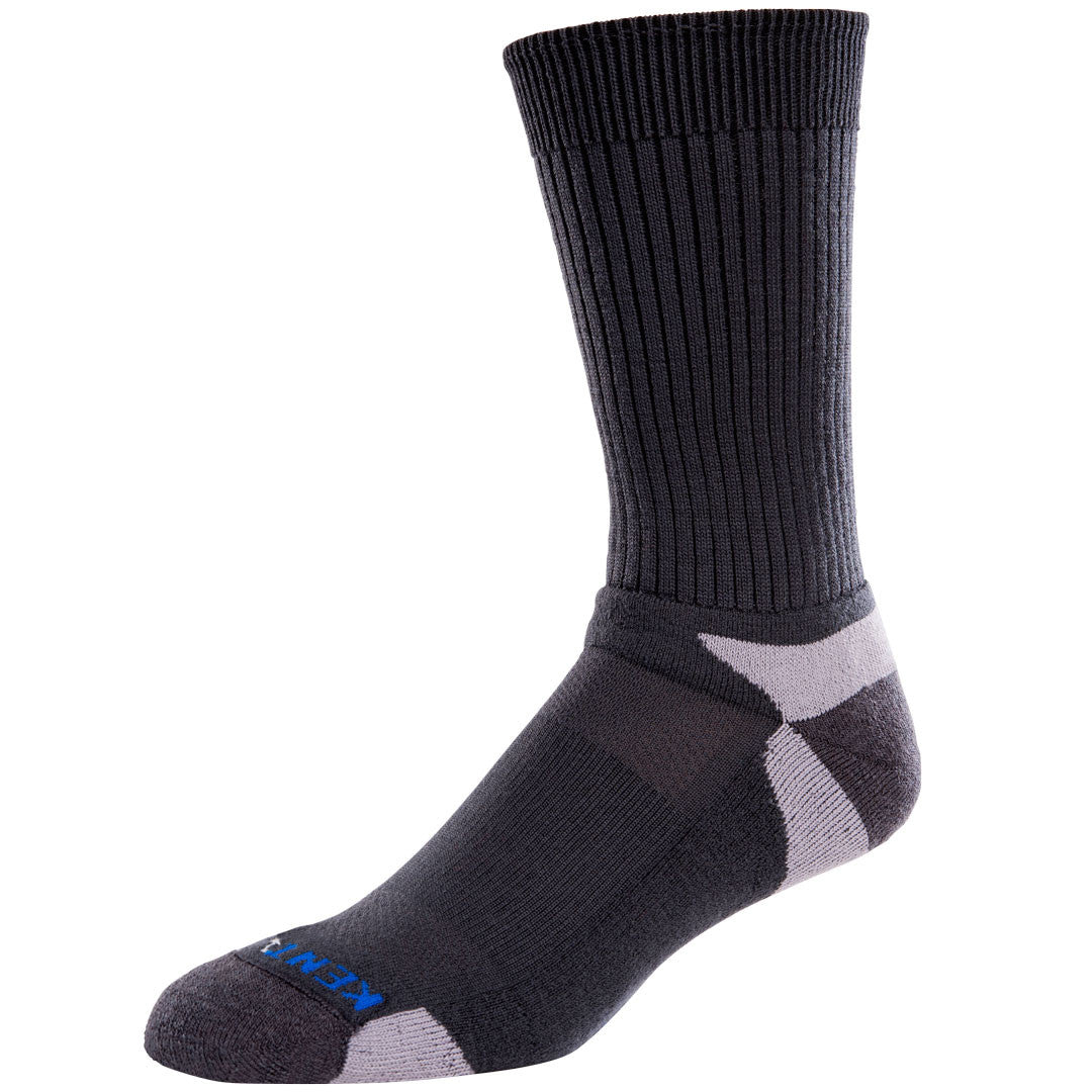 men's tour standard charcoal gray performance merino wool crew socks
